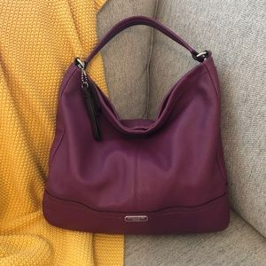 "Coach ""Park"" Pebbled Leather Hobo Shoulder Bag"